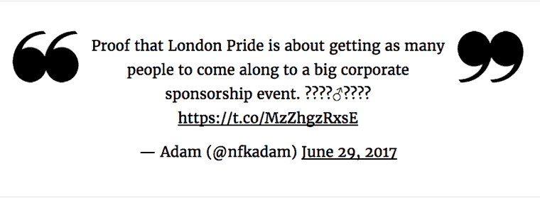 Proof that London Pride is about getting as many people to come along to a big corporate sponsorship event?