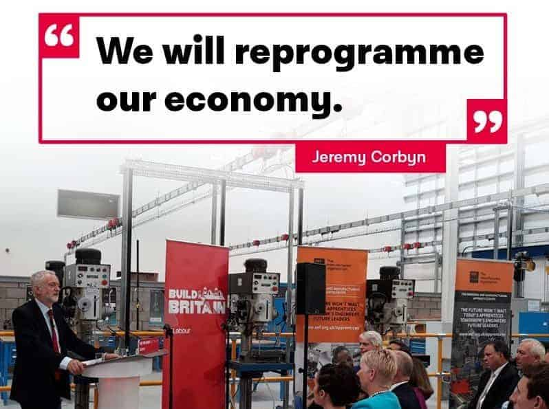 """We will reprogramme the economy"" Jeremy Corbyn"