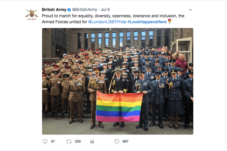 British Army LGBTI Tweet