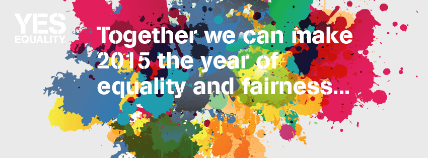 Yes Equality Paint Splat Campaign Banner
